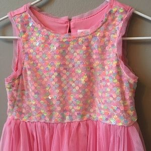 Girly pink party dress